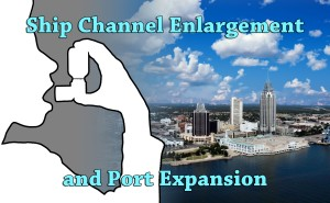 Ship Channel Enlargement and Port Expansion (downtown Mobile with an athsmatic child using an inhaler overlayed)